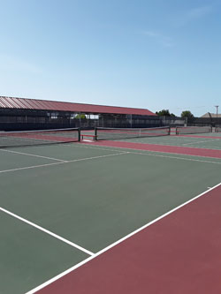 High School Tennis Center Courts