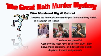 Collage of Math Murder Mystery images
