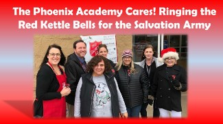 Photo of Phoenix Staff Ringing Salvation Army Bell