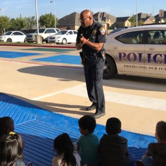 Perry's  Officer Johnson visits with PreK