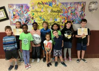 Students honored with the Eric's Acts of Kindness award for the 1st Six Weeks
