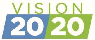Vision 20/20 in blue and green