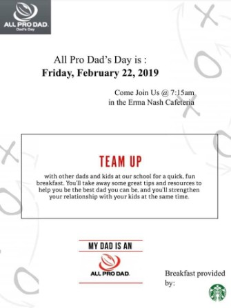 All Pro Dad February flyer information- English