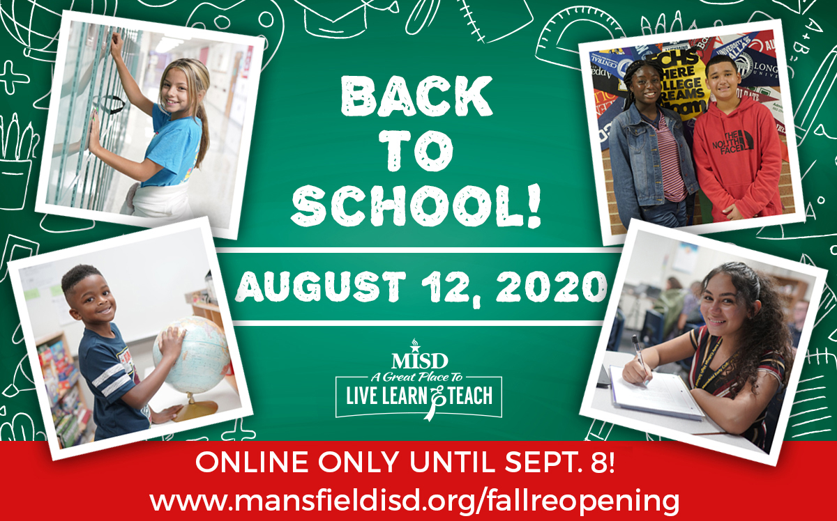 Back to School Aug. 12