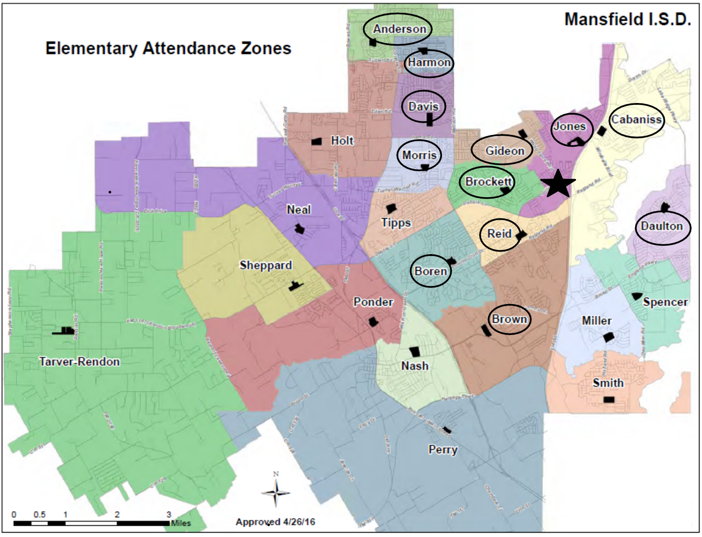 Attendance zone schools for The Academy