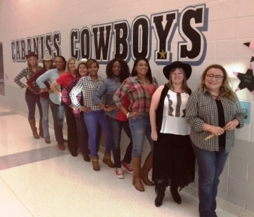 Pre-K and Kinder Teachers dress in western gear