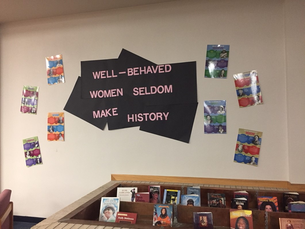 Womens History Month Book Display