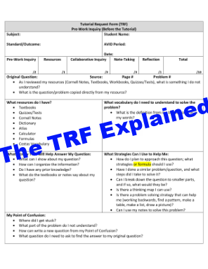 How to Complete the TRF