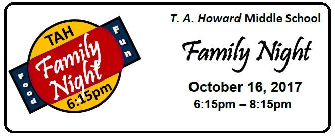 TA Howard Family Night October 16th