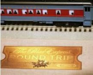 polar express train and ticket image